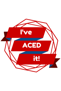 I've ACED it! red no background