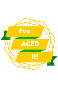 I've ACED it! yellow no background